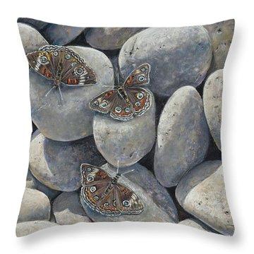 Sunshine And Butterflies Throw Pillow