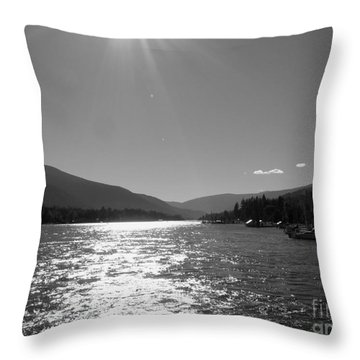 Sunshine Beams Throw Pillow by Leone Lund