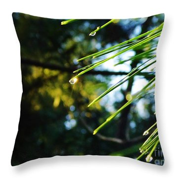 Sunshine Dewdrop Throw Pillow