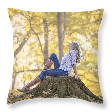 Sunshine Ecstasy Throw Pillow