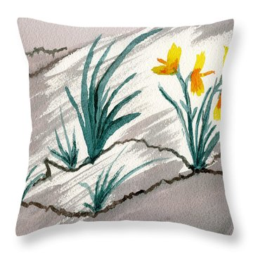 Sunshine From Darkness Throw Pillow