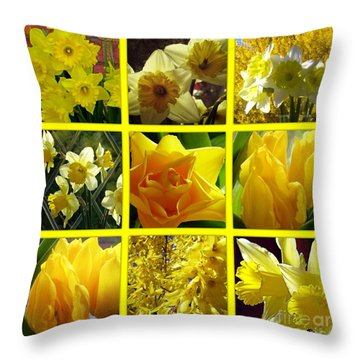 Sunshine Gold Picture Window Throw Pillow