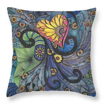 Sunshine In My Heart Tangle Throw Pillow