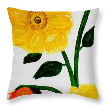 Sunshine On The Vine Throw Pillow