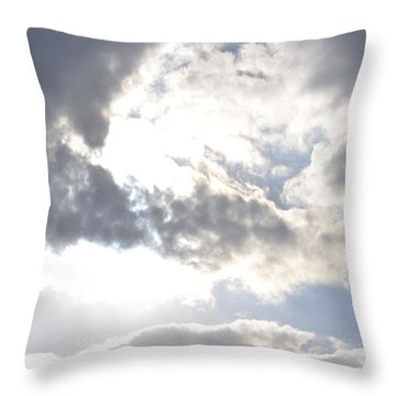 Throw Pillow featuring the photograph Sunshine Through The Clouds by Tara Potts