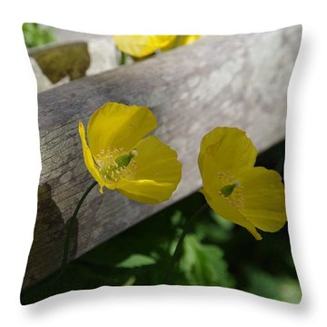 Sunshine Yellow Throw Pillow