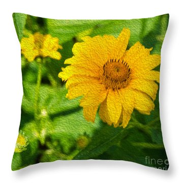 Sunshine Yellow Throw Pillow