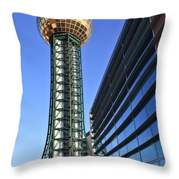 Sunsphere And Conference Center Throw Pillow