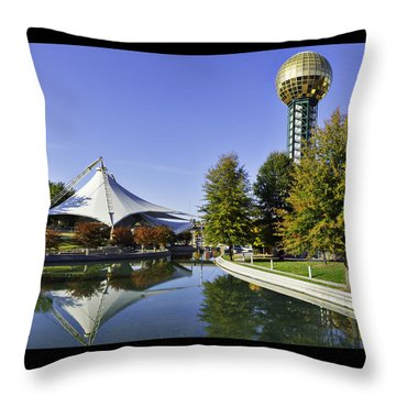 Sunsphere In The Fall Throw Pillow