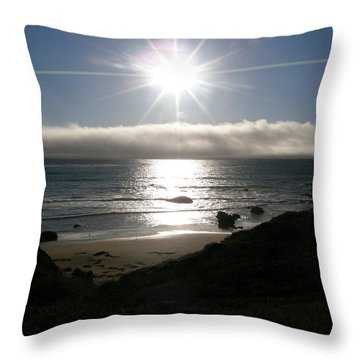 Sunstar Throw Pillow by Bev Conover