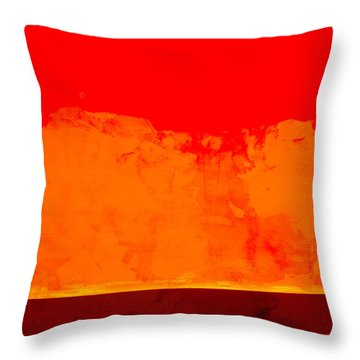 Sunstorm Throw Pillow by Carol Leigh