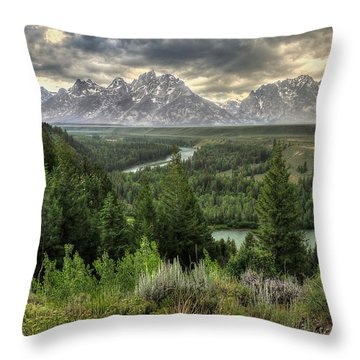 Sunstorm  Throw Pillow