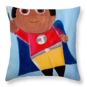 Super Artist Throw Pillow
