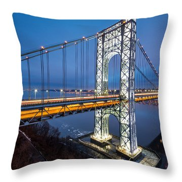 Super Bowl Gwb Throw Pillow by Mihai Andritoiu