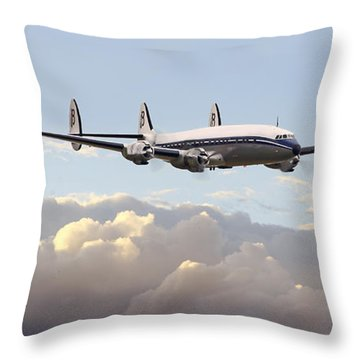 Super Constellation - End Of An Era Throw Pillow by Pat Speirs