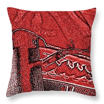 Throw Pillow featuring the photograph Super Grainy Marshall by Bartz Johnson