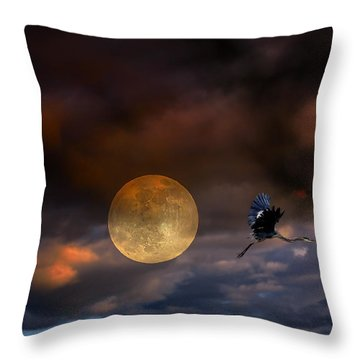 Super Moon 2013 Throw Pillow by Angela A Stanton