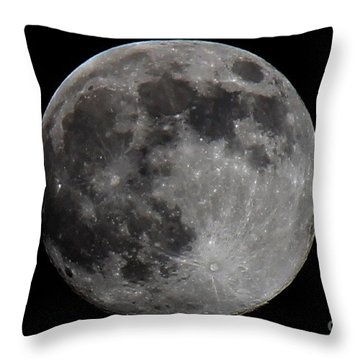 Super Moon 2014 Throw Pillow