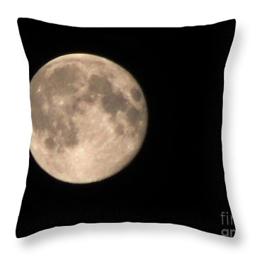 Super Moon Throw Pillow by David Millenheft