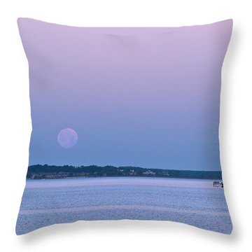 Super Moon Setting-1 Throw Pillow