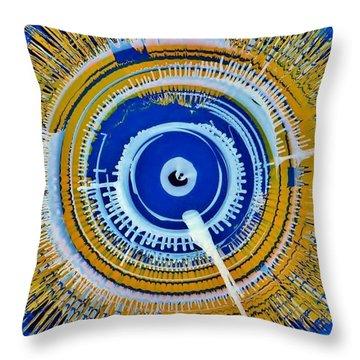 Super Nova Color Throw Pillow