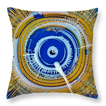 Super Nova Color Throw Pillow