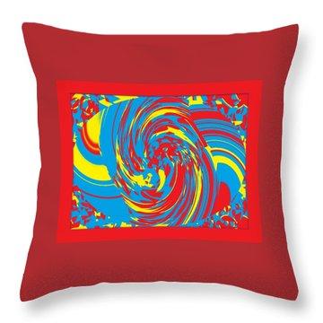 Super Swirl Throw Pillow by Catherine Lott
