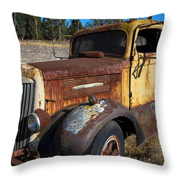 Super White Truck Throw Pillow by Garry Gay
