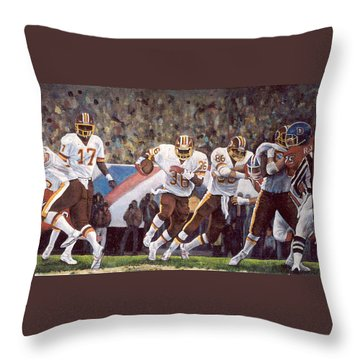 Superbowl Xii Throw Pillow by Donna Tucker