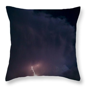 Supercell Moon Throw Pillow