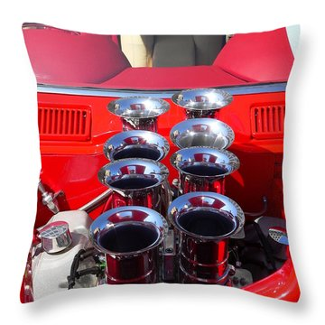 Throw Pillow featuring the photograph Supercharged Engine by Jeff Lowe