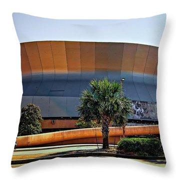 Superdome Throw Pillow by Steve Harrington