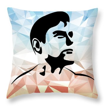 Superman 10 Throw Pillow by Mark Ashkenazi