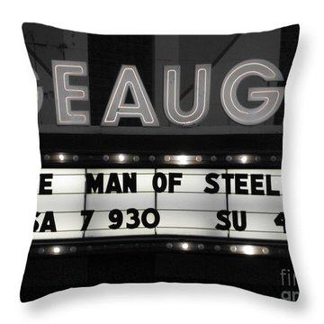 Throw Pillow featuring the photograph Superman by Michael Krek