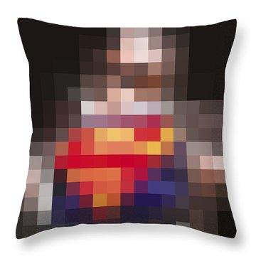 Superman Throw Pillow by Tony Rubino