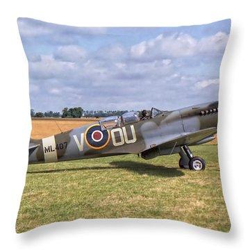 Supermarine Spitfire T9 Throw Pillow