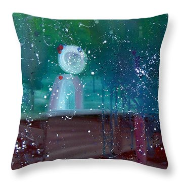 Throw Pillow featuring the painting Supernatural Space by Min Zou