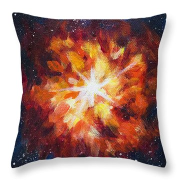 Supernova Explosion Throw Pillow