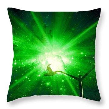 Supernova V Throw Pillow by Aurelio Zucco
