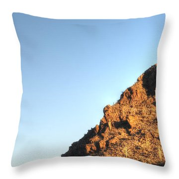 Throw Pillow featuring the photograph Superstition Mountain by Lynn Geoffroy