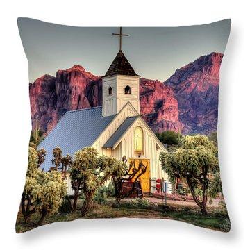 Superstitious Faith Throw Pillow