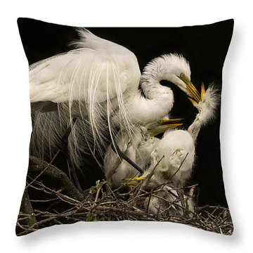 Throw Pillow featuring the photograph Suppertime by Priscilla Burgers