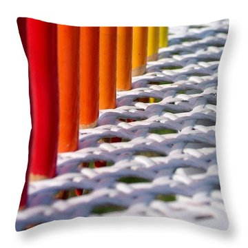 Throw Pillow featuring the photograph Supplies by Elizabeth Sullivan