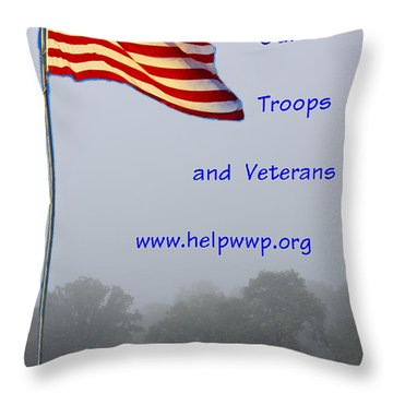 Support Our Troops And Veterans Throw Pillow