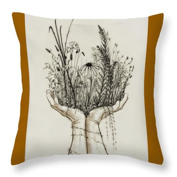 Supported Meadow Throw Pillow