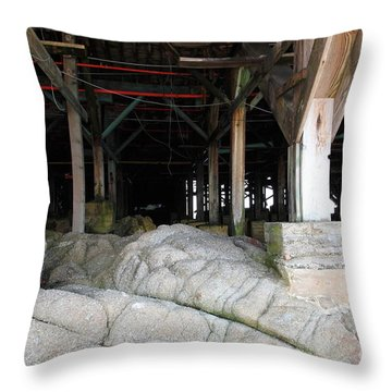 Supporting The Steinbeck Plaza On Monterey Cannery Row California 5d25054 Throw Pillow