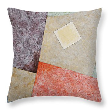 Throw Pillow featuring the painting Suprematist Composition No 1 With A Square by Ben Gertsberg