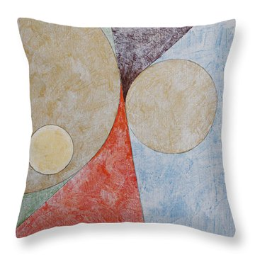 Throw Pillow featuring the painting Suprematist Composition No 2 With A Circle by Ben Gertsberg