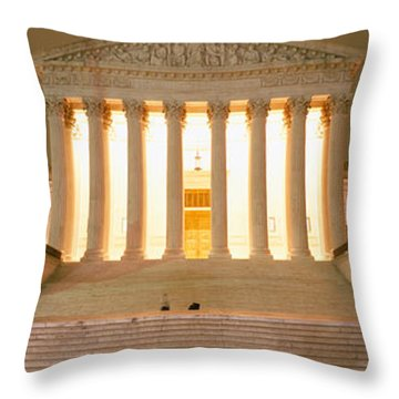 Supreme Court Building Illuminated Throw Pillow