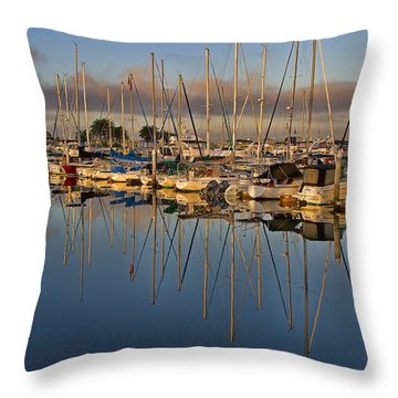 Throw Pillow featuring the photograph Sur La Mer by Gary Holmes